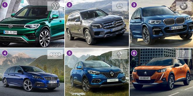 Audi, BMW, Mercedes-Benz, Peugeot, Renault, Volkswagen: entdecken Sie die Top 10 der beliebtesten Automarken der Schweiz der letzten zwölf Monate.